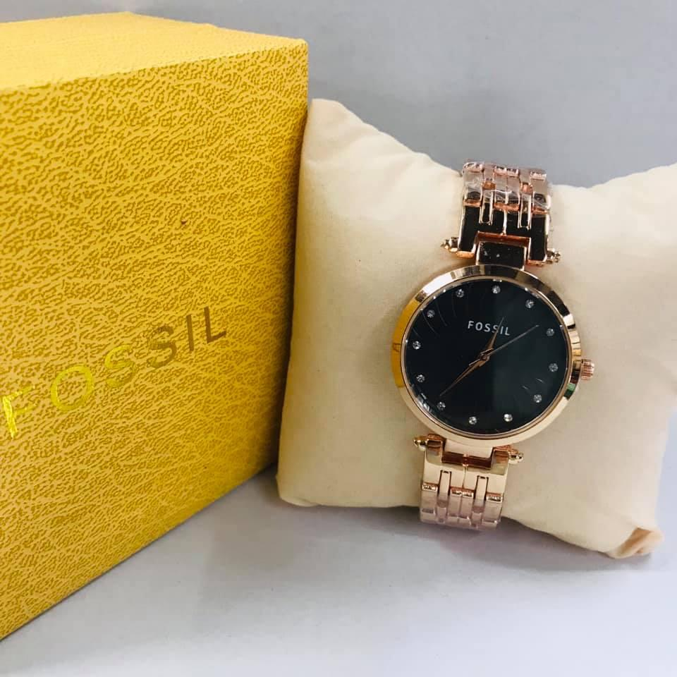 53f385d96eca1 Fossil Ladies watch/Rose Gold Black dial