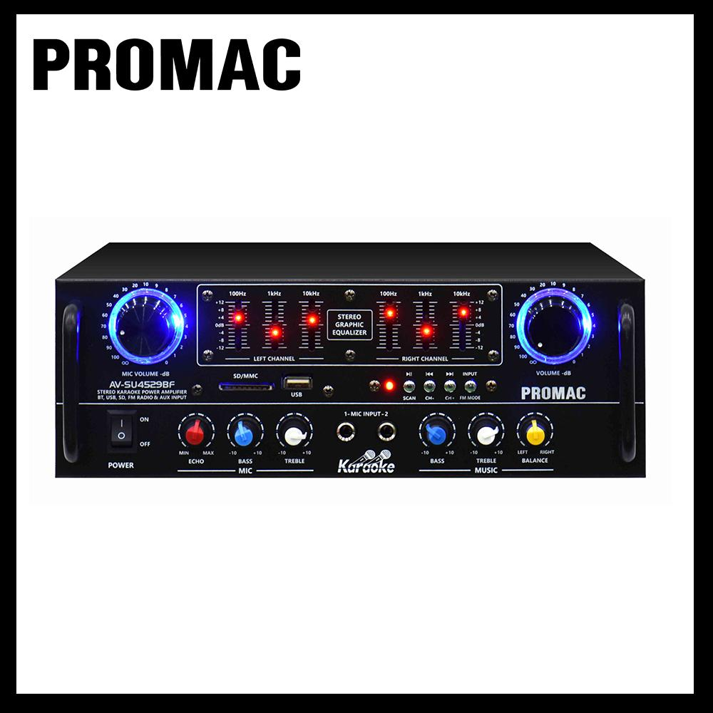Promac AV-SU4529BF Karaoke Power Amplifier with FM Radio
