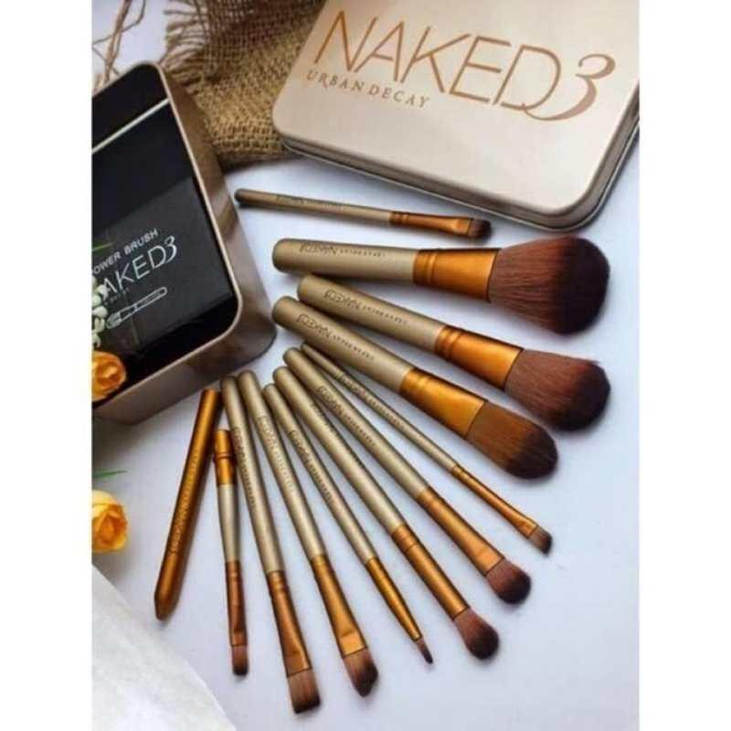 Naked 12 pcs Professional 3 Power Makeup Brushes Philippines