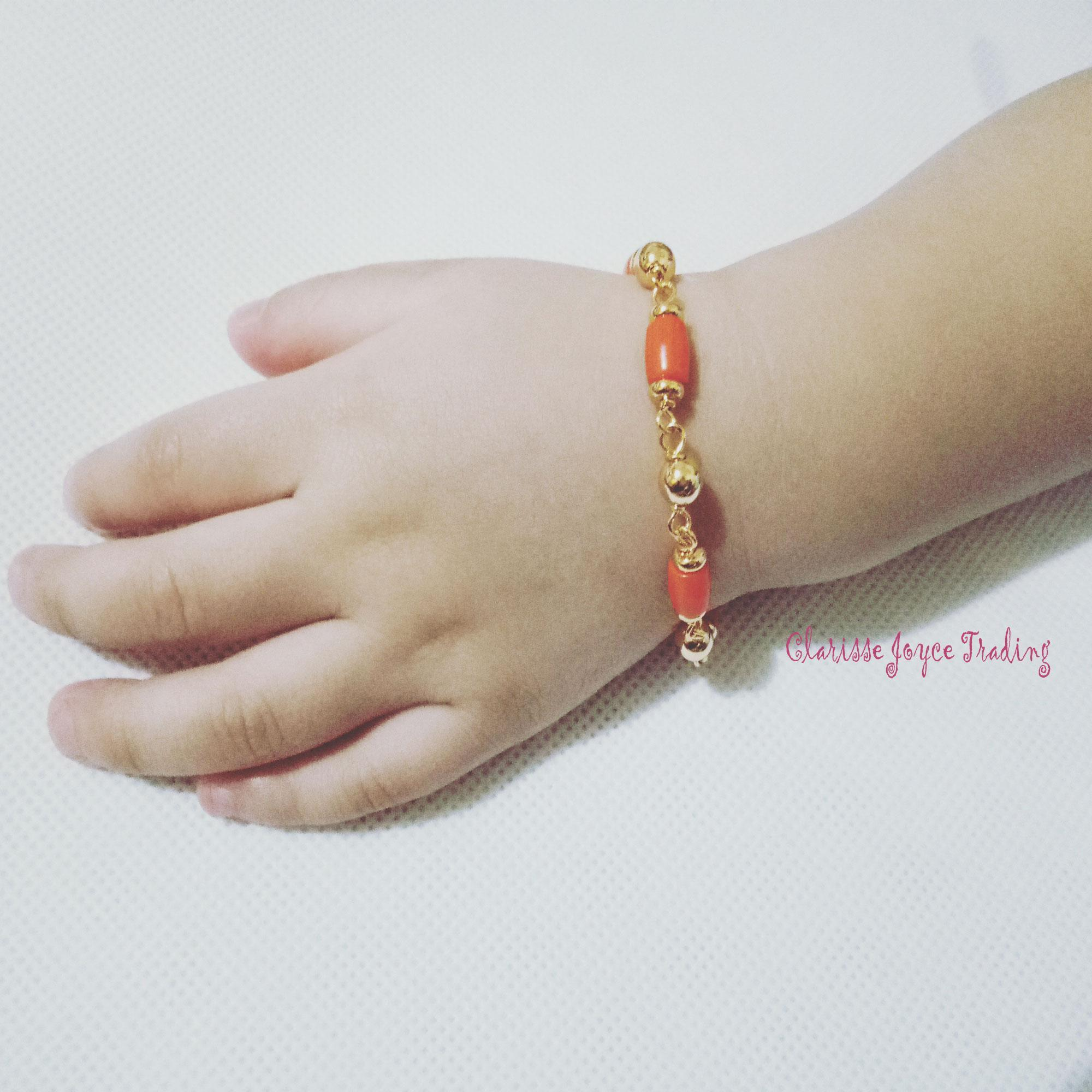 Best Seller Baby Charm Coral Bracelet Korean Style Rosegold (6mos To 24mos) (5 Corales) By Clarisse Joyce Trading.