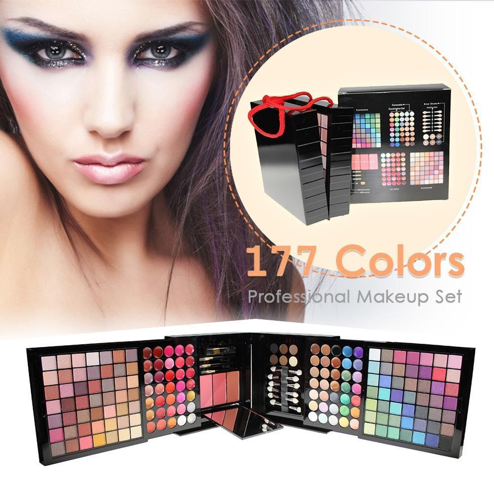 Pro 177-02 Color Eyeshadow Palette Blush Lip Gloss Beauty Makeup Cosmetic Set Kit Philippines