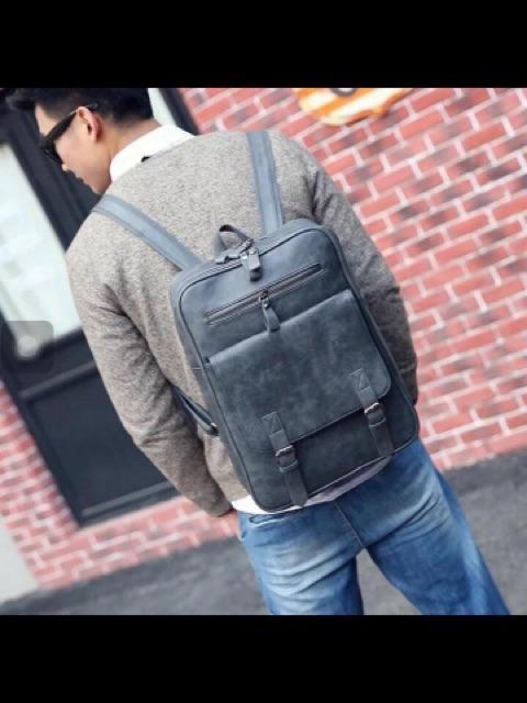 High Quality Korean School Leather Backpack By Budgetstore.