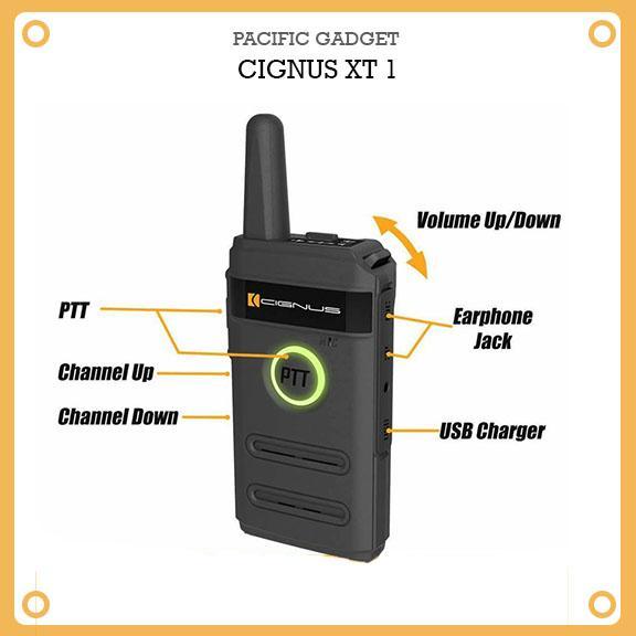 Cignus XT-1 mini single band UHF portable two way radio (Black)
