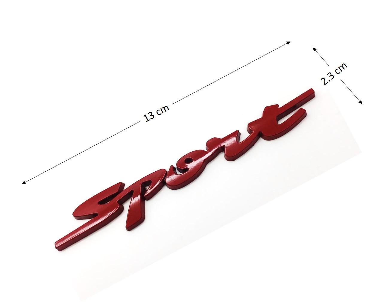 Sport Letter Red 3d Metal Alloy Emblem Sticker By Speedure Trading.