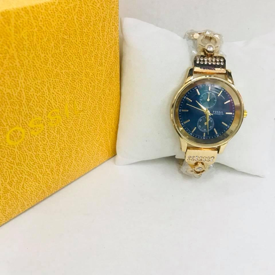 Fossil Philippines Price List Watches For Men Es3954 Tailor Multifunction Light Brown Leather Watch Ladies Sale Gold Tone Blue Dial