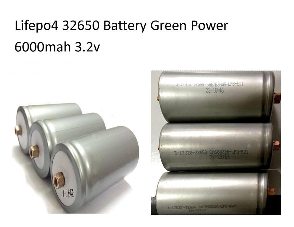 LifePo4 Lithium 32650 Battery 6000mah 3 2v Rechargeable Green Power