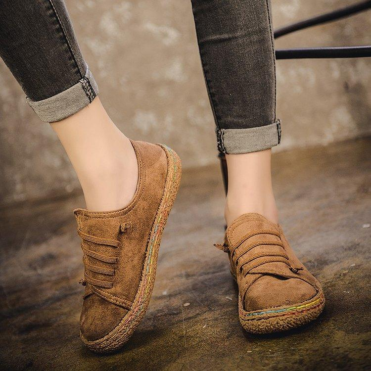 4561ea9de8b8 2018 Spring And Autumn New Style Korean Style Mori Girl Moccosins women  Vintage Students Flat a
