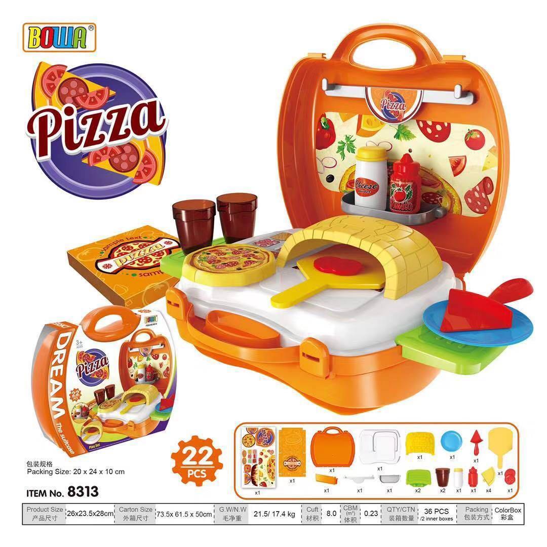 Bowa Dream The Suitcase Pizza Kitchen Set Play Set Kids Toy Set (orange) By Miss Intrinsic Cute.