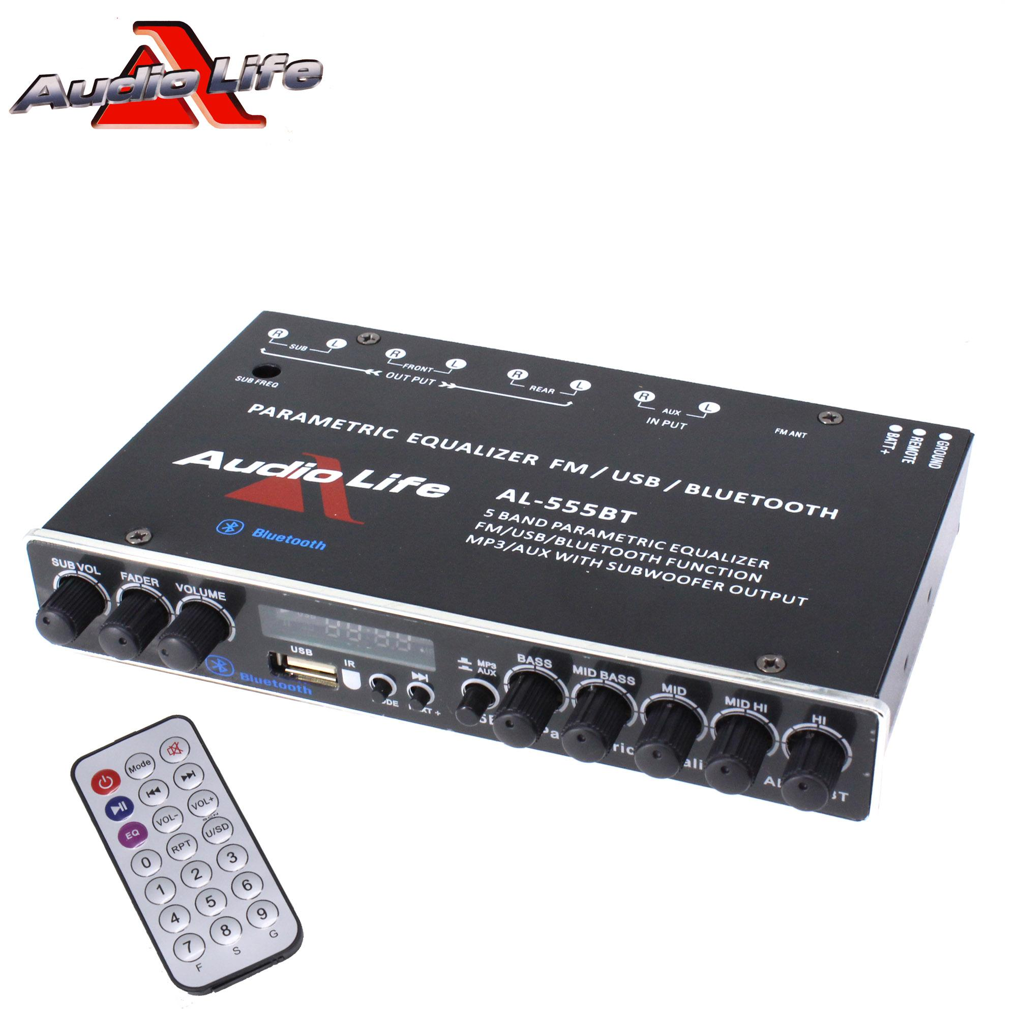 Power Acoustik Equalizer Wiring Diagrams Car For Sale Stereo Online Brands Prices Audio Life Al 555bt 5 Band Parametric With Bt