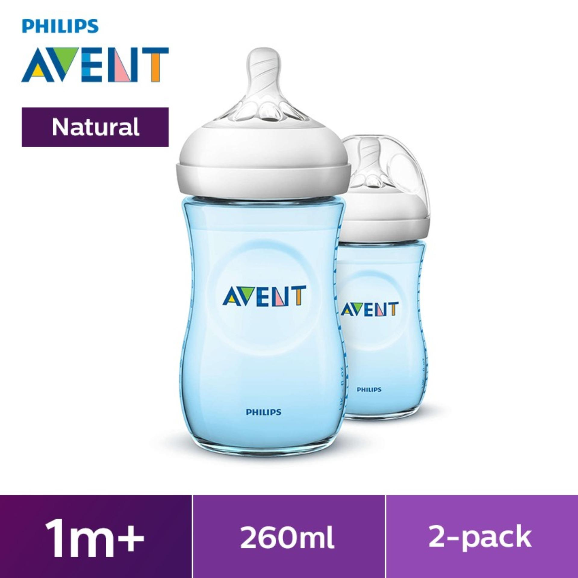 Philips Avent Natural 9oz Bottle Twin Pack - Blue By Lazada Retail Philips Avent.