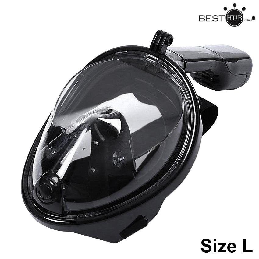 Full Face Snorkeling Mask For Gopro & Action Cameras L/xl (black) By Besthub.