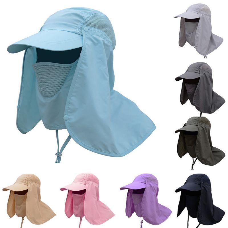 5ac03693375 Protection Cap Professional Summer Sun Hats Women Men Neck Face Sunscreen  Flap Hat Fisherman Hat Sun