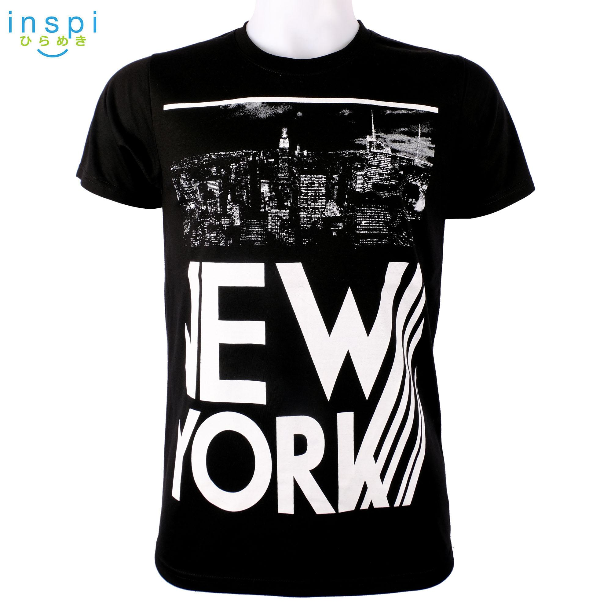 efc91ecd INSPI Style Mens New York City (Black) tshirt printed graphic tee Mens t  shirt