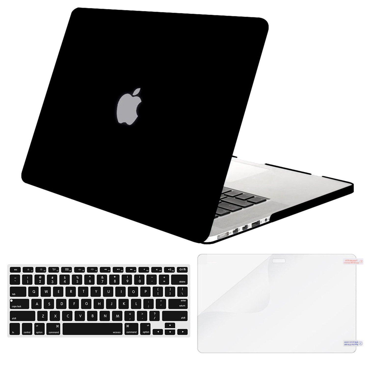 MacBook Air 13 Case Transparent Frosted Plastic Hard Shell Case Cover Bundle for Apple MacBook Air