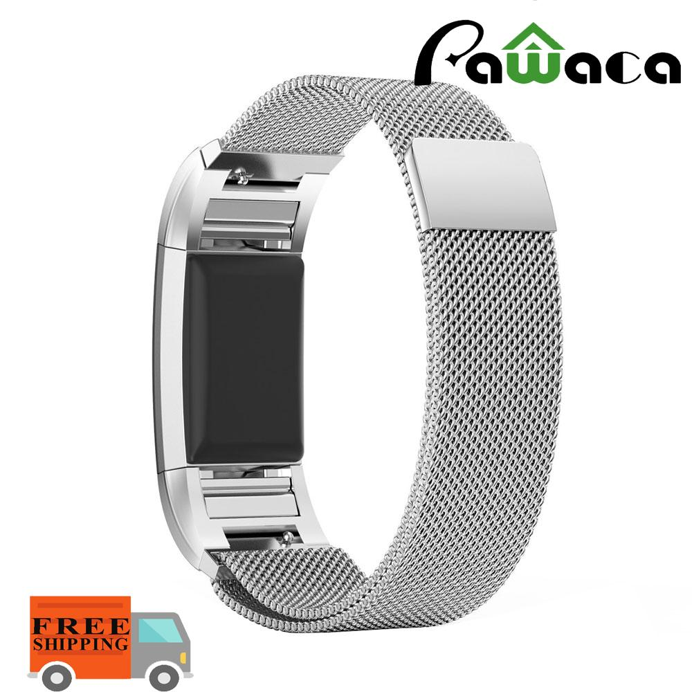 [FREE SHIPPING]Pawaca Replacement Band For Fitbit Charge 2 , Milanese Woven Stainless Steel