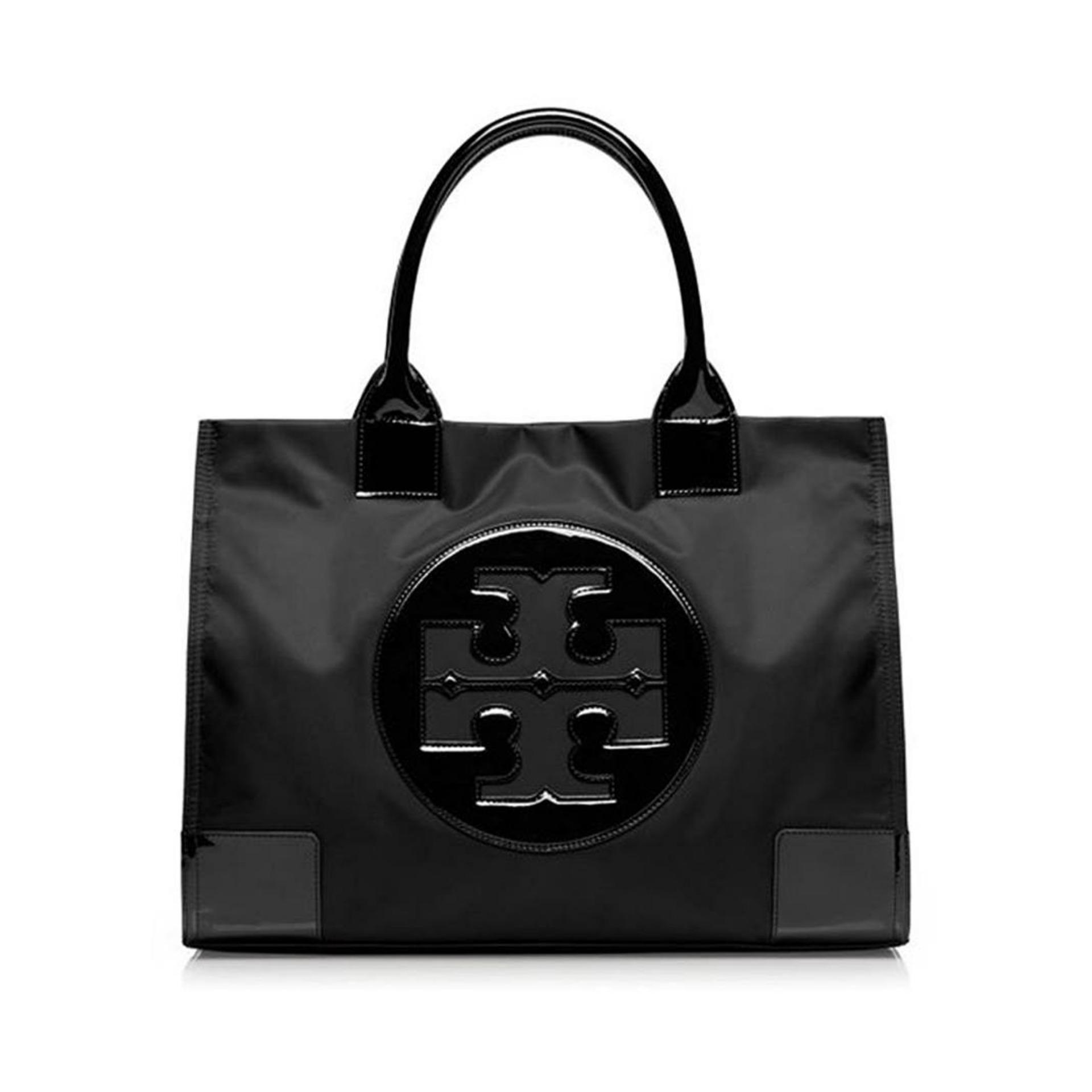 Tory Burch - Ella Tote Bag (Black) (Authentic)