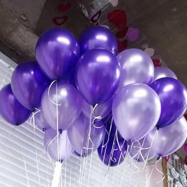 Size12 Metallic Balloons 100pcs Pack