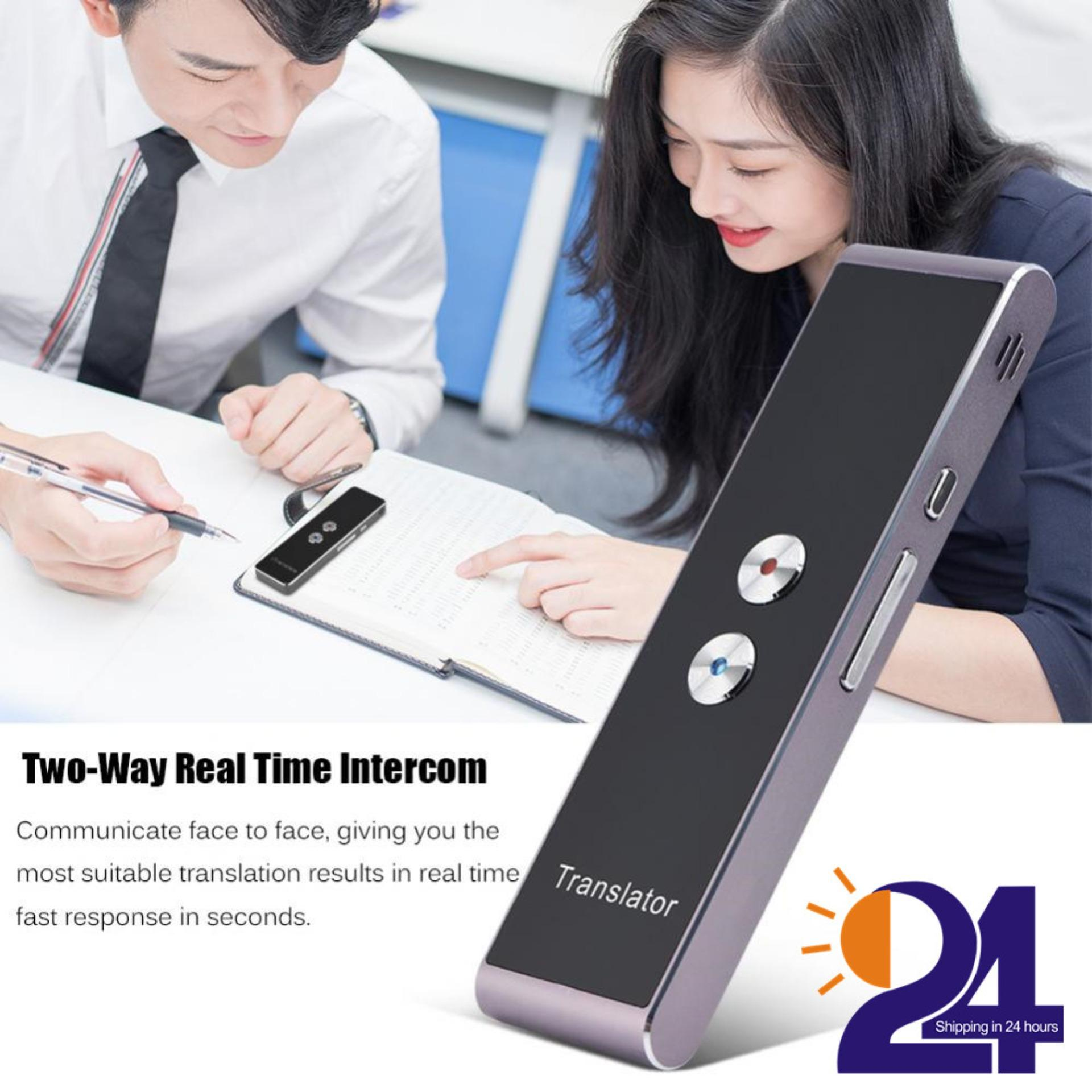 Portable Smart Two-Way Real Time Multi-Language Voice Translator For Learning Travel Meeting - Intl By 1buycart.