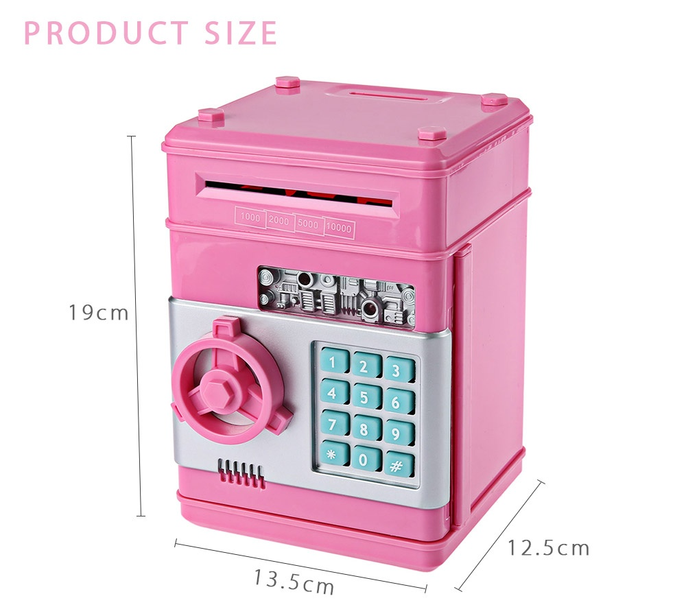 Mini ATM Bank Piggy Bank Personal Saving Money Box Machine