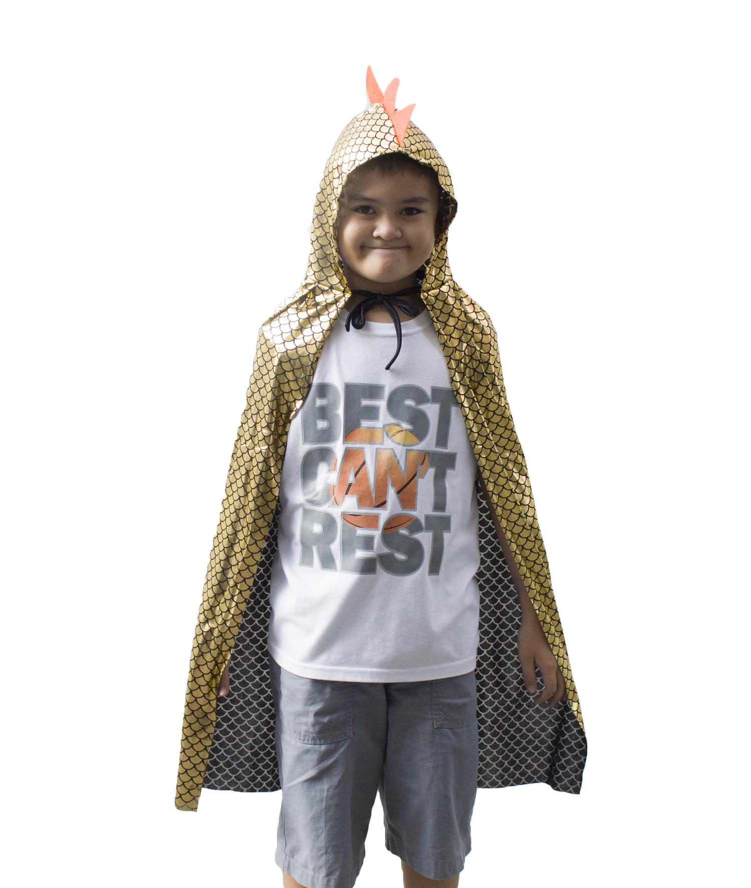 Halloween Costume Dragon Cape Kids - Gold By Db.