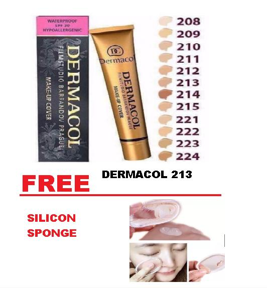 COD Dermacol Make Up Cover with Free Silicon Sponge Philippines