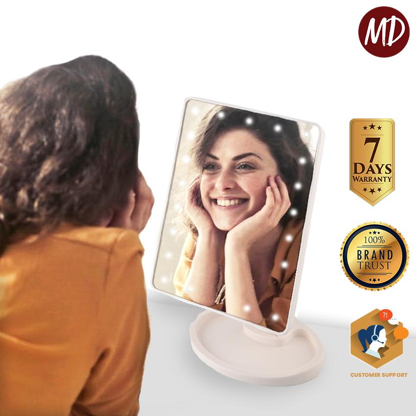 MD Large LED Mirror Makeup Mirror Professional Vanity Mirror With Lights 360 Degree Rotating 16 LED Large Makeup Mirror - (XR-1608) Philippines