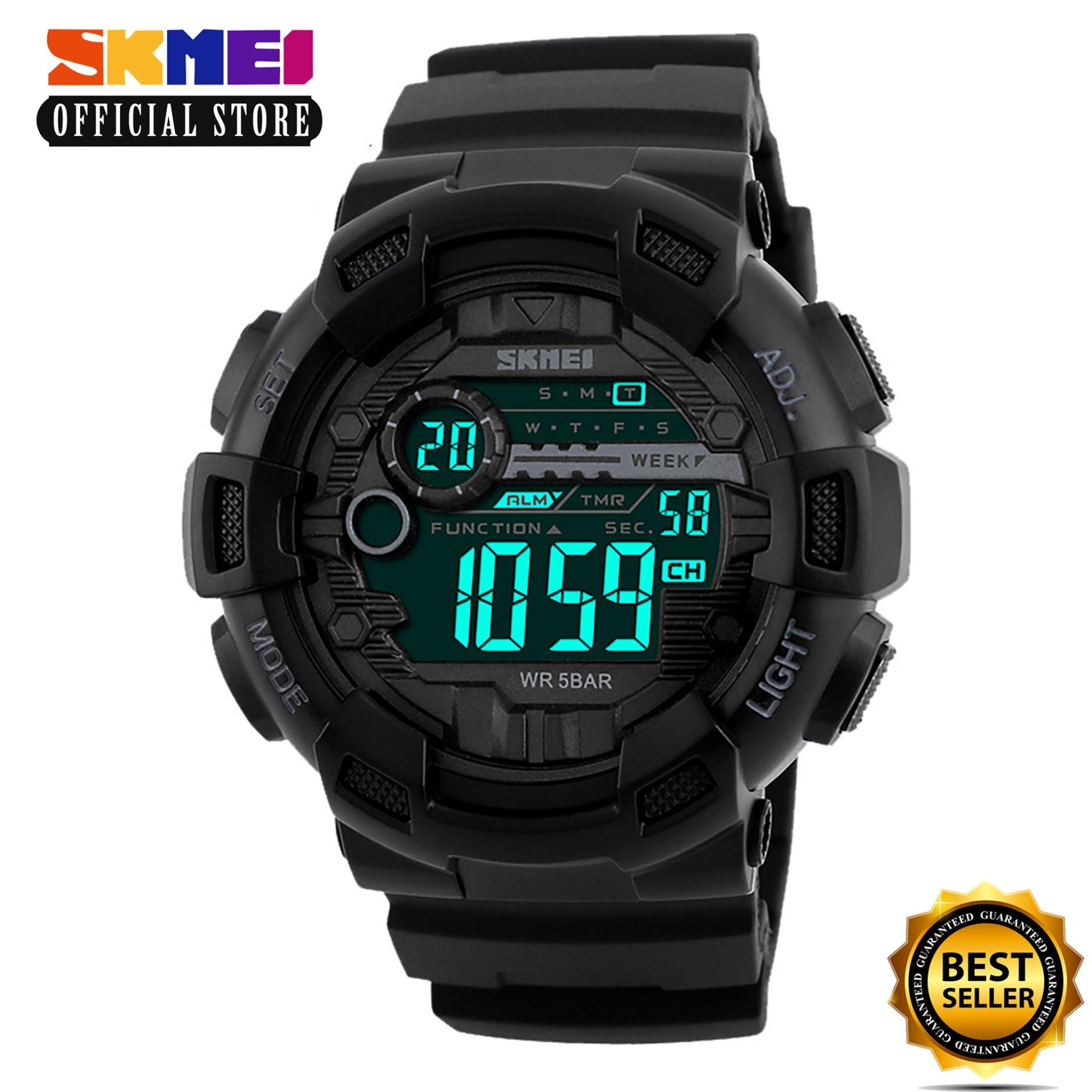 Skmei 1243 Men Sports Watches 50m Waterproof Back Light Led Digital Watch Chronograph Shock Double Time Wristwatches 1243 Casio Zoo York Timex Time