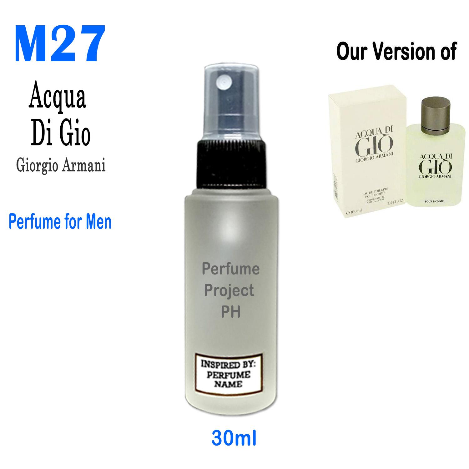 Buy Sell Cheapest Perfume For Men Best Quality Product Deals Parfum Original Adidas Get Ready Project Ph 30ml Round M27 Our Version Of Acqua Di Gio By Giorgio
