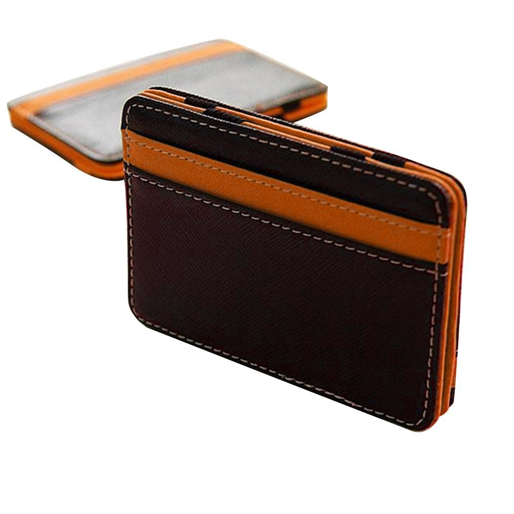 Hot Sale Money clip wallet men with Credit Card Id Holder porta foglio for male wallet