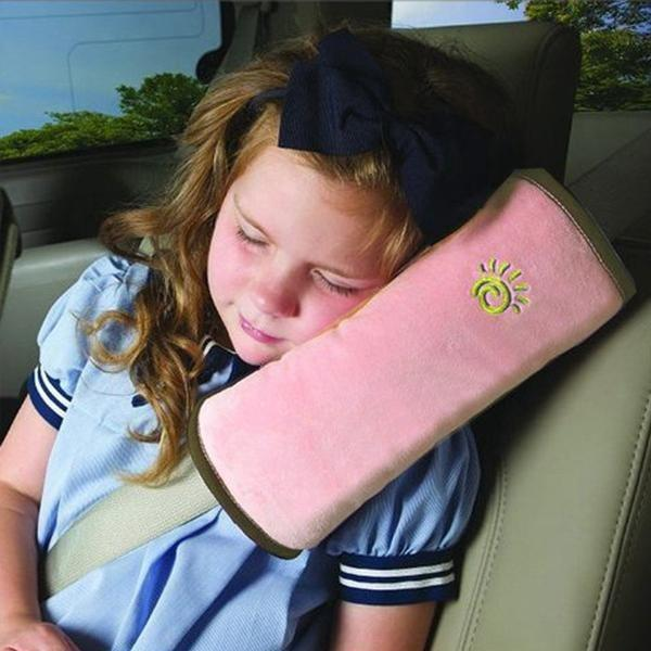 Autos Pillow Car Safety Belt Shoulder Pad Cushion For Kids (pink) By Usje Trading.