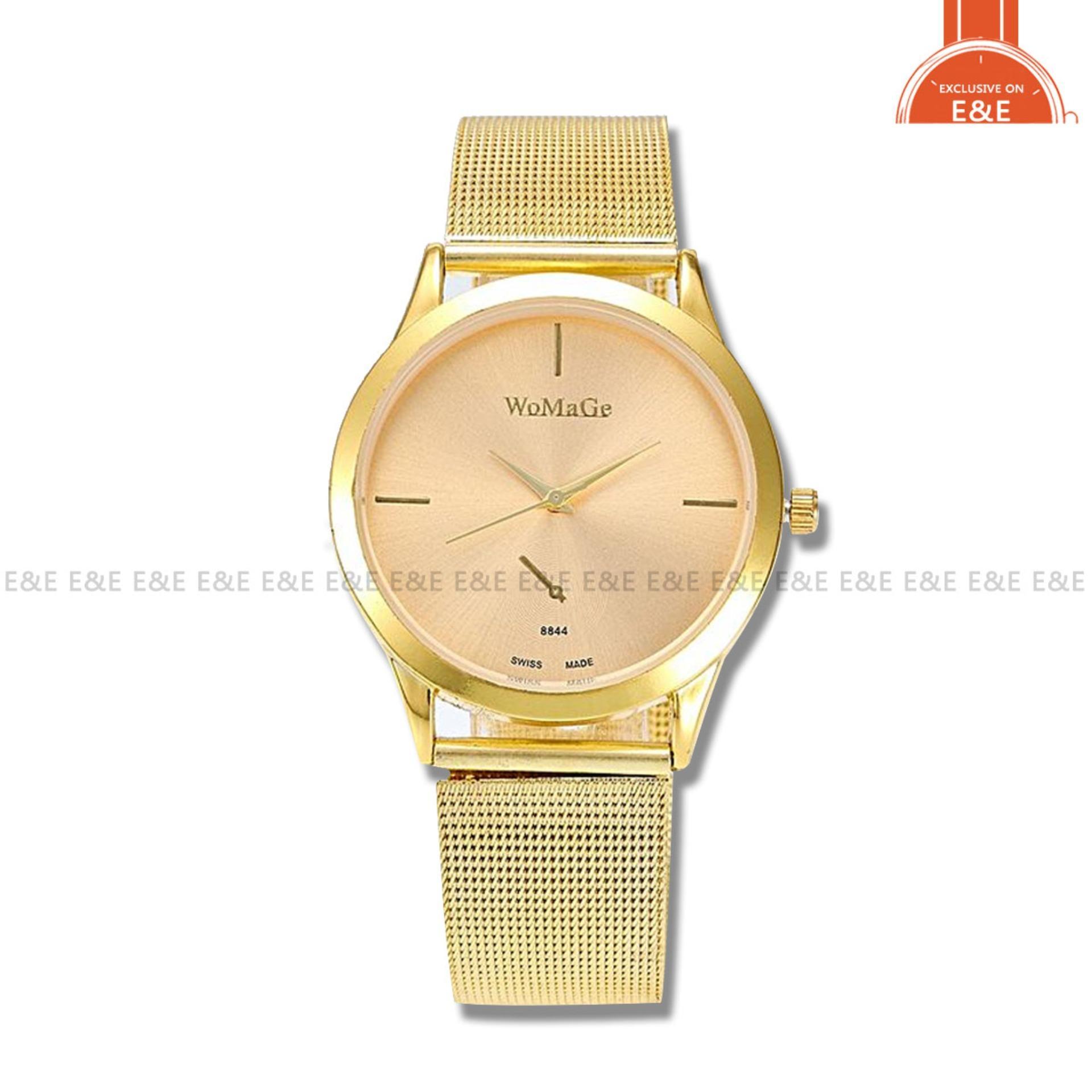 SYNOKE 8844 Fashion Mens' Watch Gold Steel-belt Quartz Wristwatch