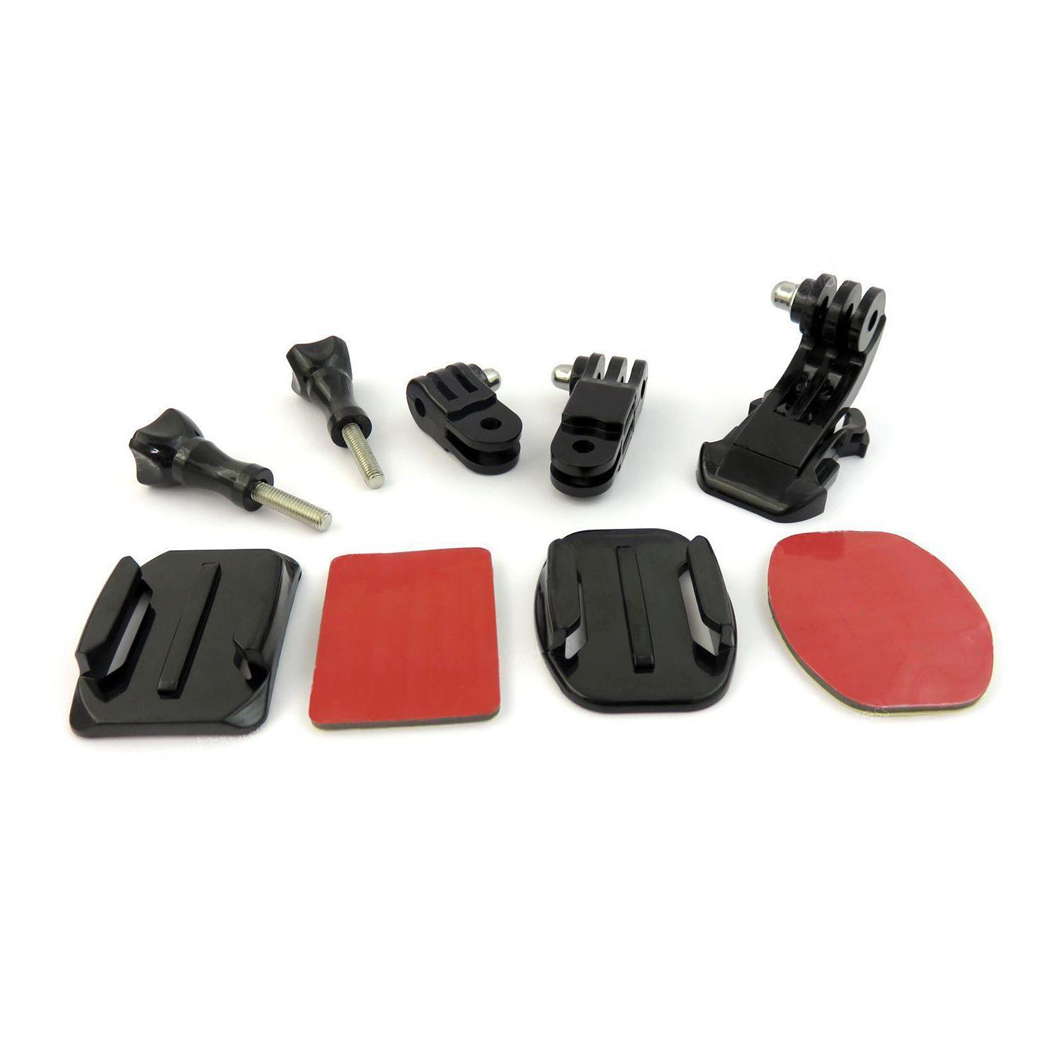 9 In 1 Helmet Front Side Quick Clip Mount Kit For Gopro Hero 6 5 4 3 2 Session By Jonesmayer.