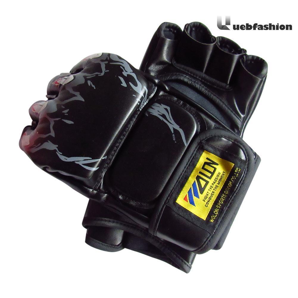 Muay Thai Gym Punching Bag Half Mitt Train Sparring Kick Boxing Gloves