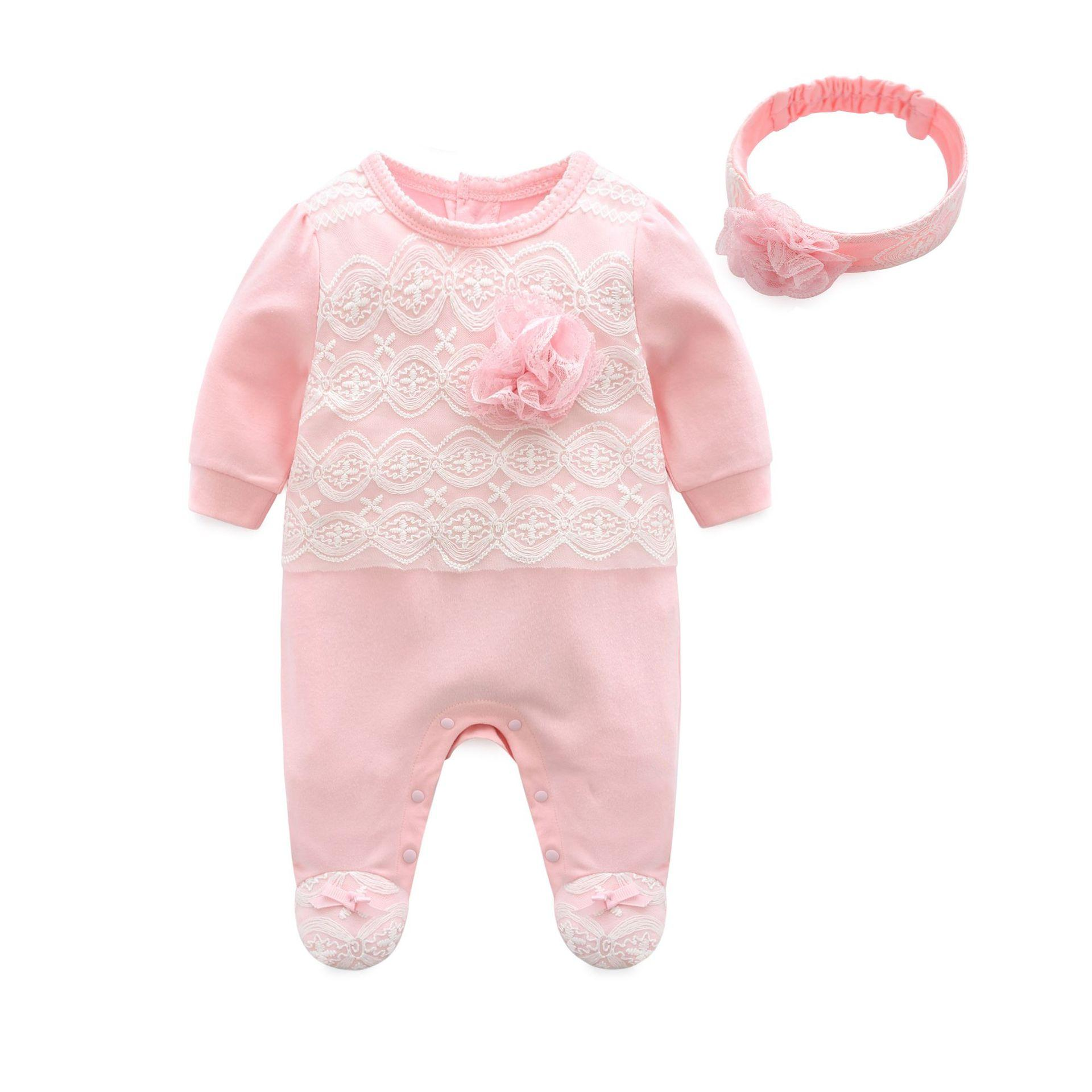 Baby Onesie with Feet Spring Clothing women Baby Clothes Princess 3 Months  6 Newborns Spring And 87cd95698c