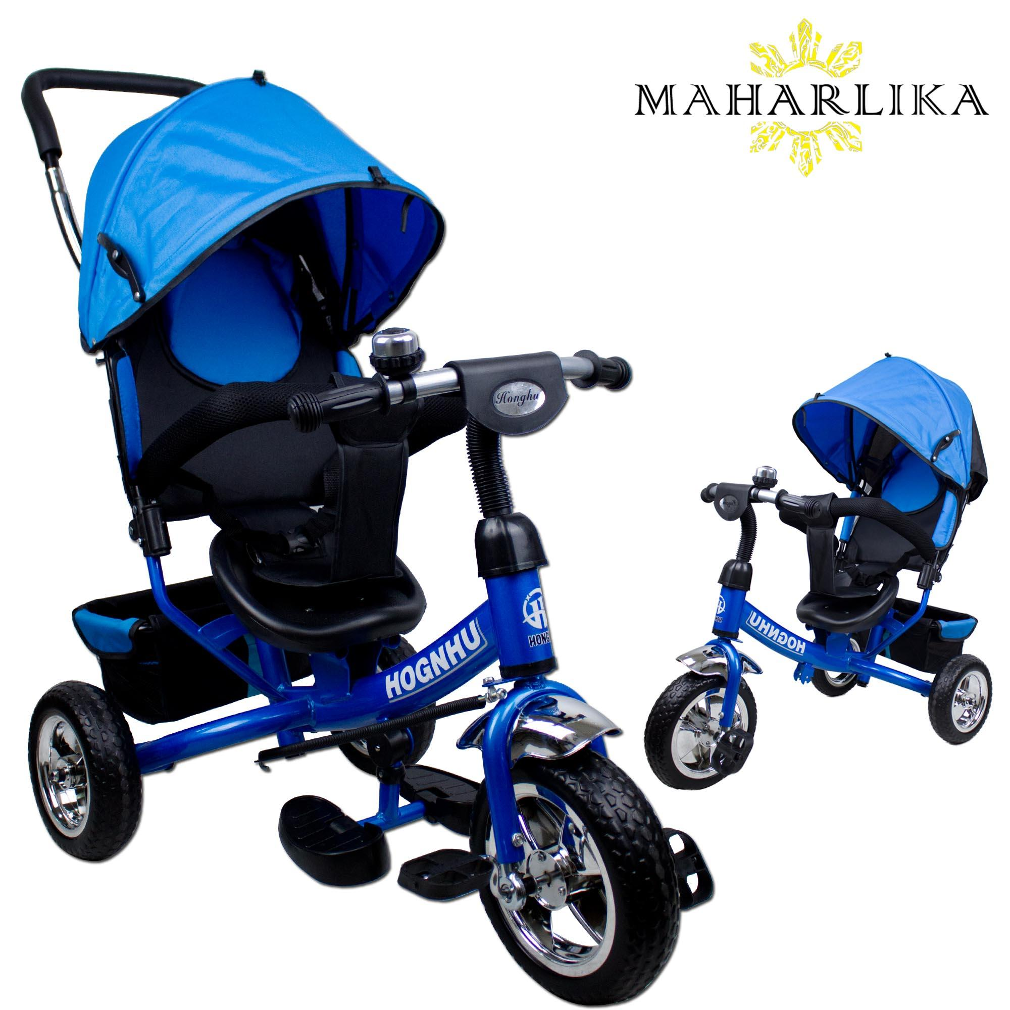 Mk 6188 Tricycle Assist Stroller Ride On Tricycle Bicycle Bike Safety Bar Rain Safe With Steer Handle By Maharlika.