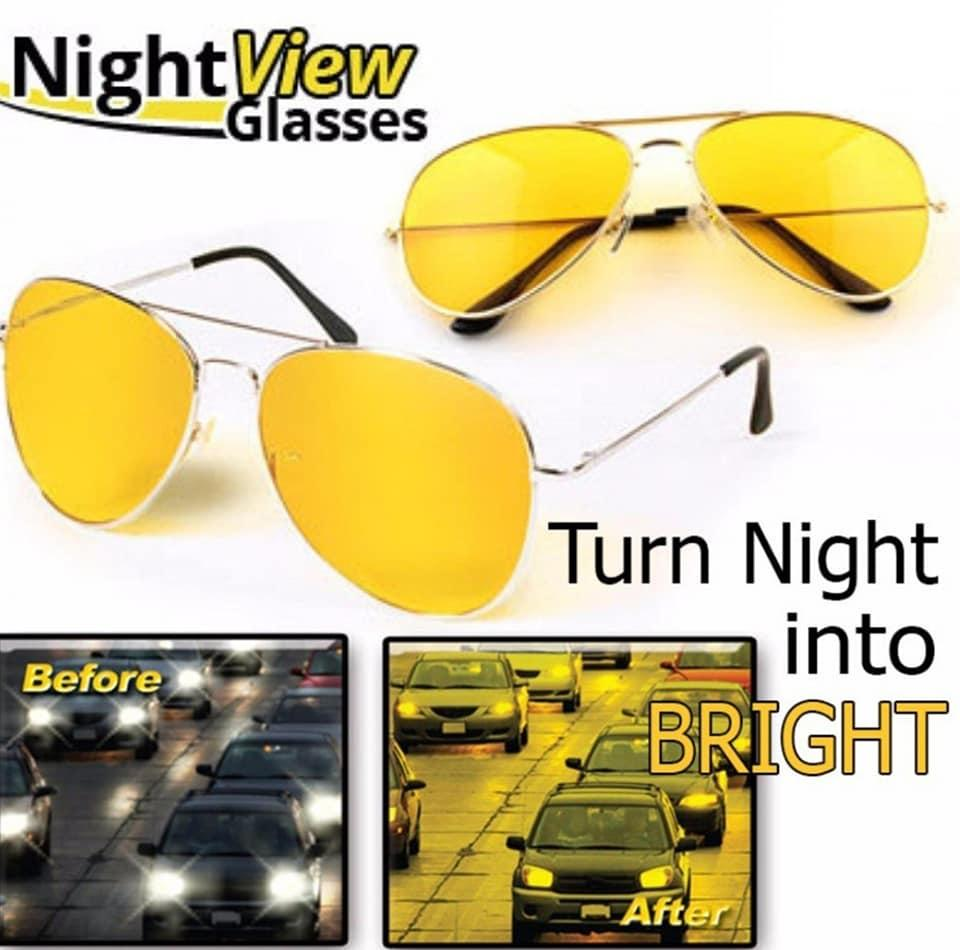 86fc18508eb Night View NV Anti Glare Night Vision Aviator-Driving Glasses