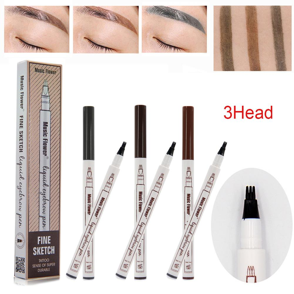 Music Flower Brand Makeup 3 Colours Fine Sketch Liquid EYELINER Philippines