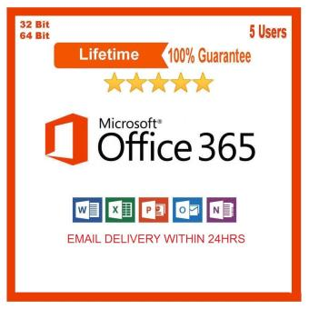 Microsoft Office 365 Office 2016 upto 5 devices with 5TB OneDrive cloud storage LIFETIME