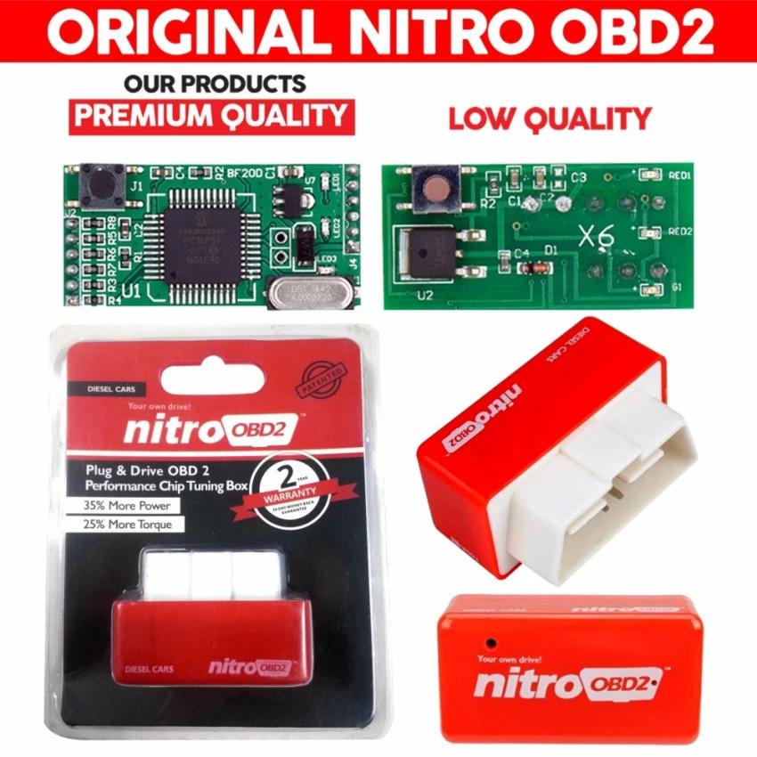 [100% Original] Nitro Obd2 For Diesel Cars Chip Performance Tuning Plug & Play Auto Ecu Remap (red)[diesel Cars] By Letgo-Ph.