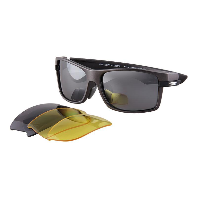 881bfafc81 Spyder Interchangeable Sports Eyewear Stride 4S012 PZM (Grey Frame Smoke  Lens)