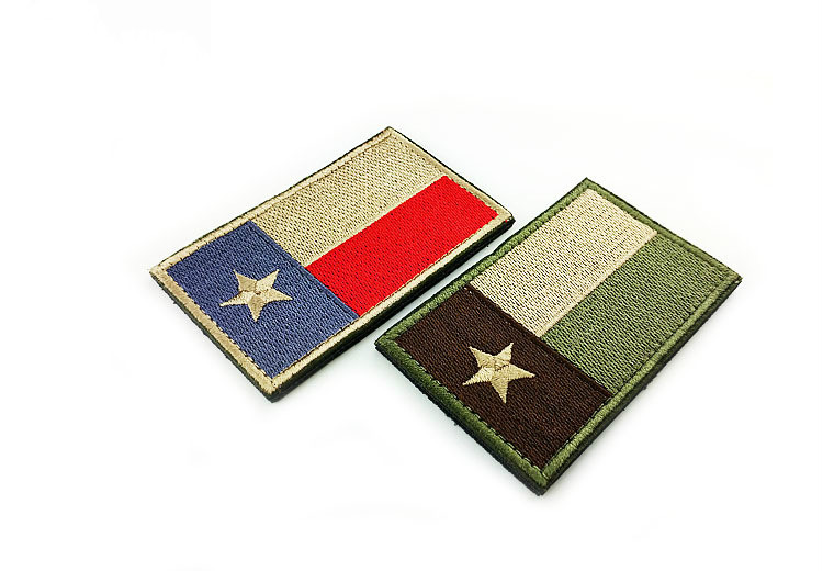 3D Embroidered Backpack Patches Punisher Crusader Cross Army Badge Texas  Flag Tactical Appliques Emblem Badges