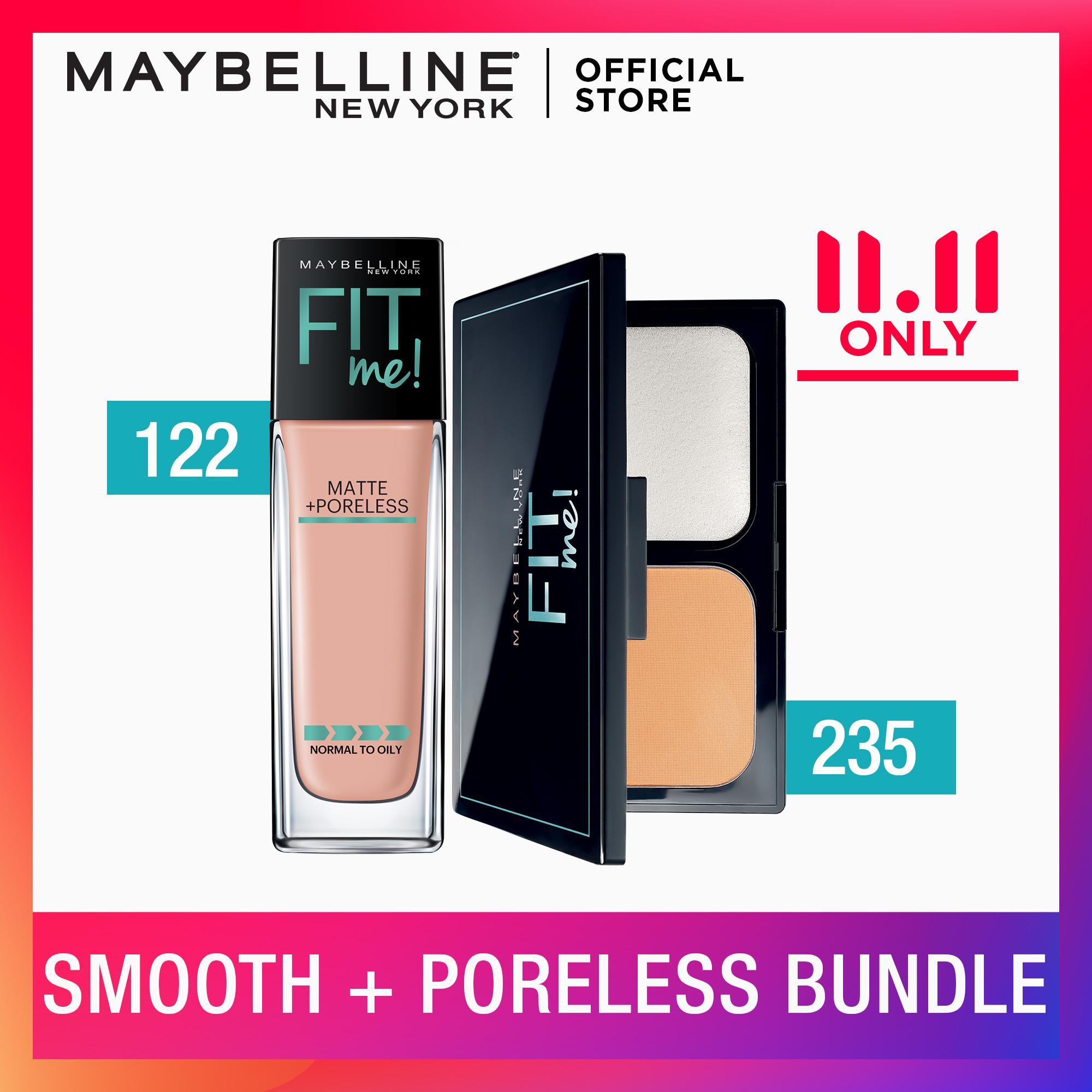 Fit Me Ultra-Smooth Matte + Poreless Bundle by Maybelline Philippines