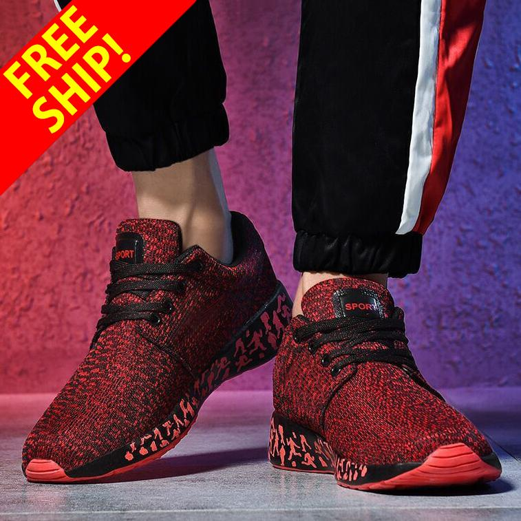 QINGSHUI Sneakers Breath Jogging for men sports running Shoes Fly Weave Mens Trainers Walking Sport Gym