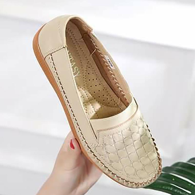 Fantasy Ladies Slip On Loafer Doll Shoes #1929 (beige)