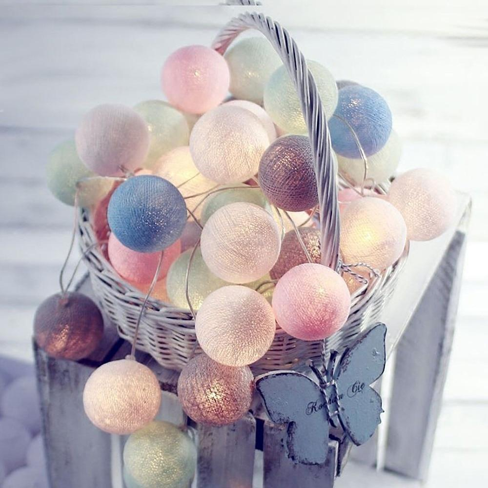 3 Meters Led Cotton Ball String Light,colorful Decorative Christmas Fairy Lamp,new Year 、holiday 、christmas Party 、wedding Decoration Fairy Lights, Garland Decorations By Lucky-King.