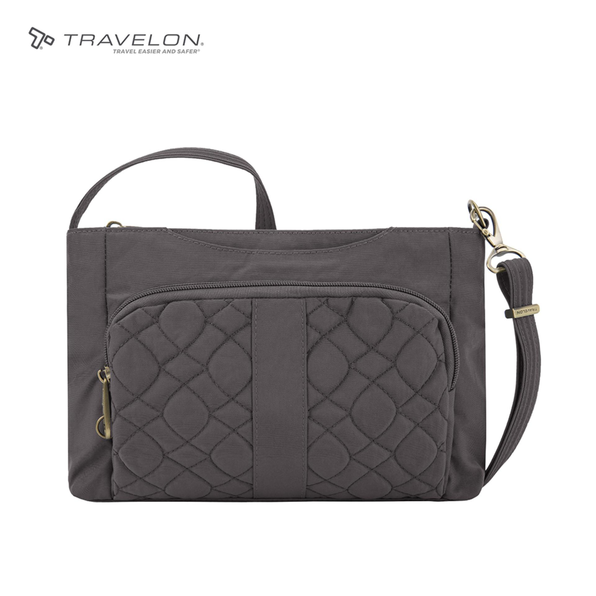 3bfa43e3fae9 Travelon Signature Quilted EW Slim Anti-theft RFID protected Womens Safety  Travel Bag