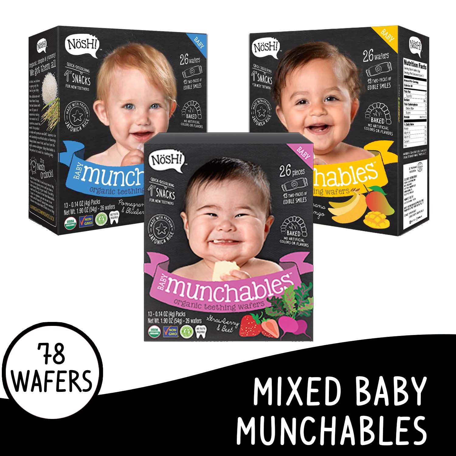 Nosh Baby Munchables Mixed Set Of 3 By Nosh Baby Ph