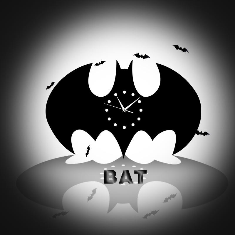 Lz Modern Creative Batman Decorations Bedroom Home Time Retro Wall Clock Quartz Intl Lazada Ph