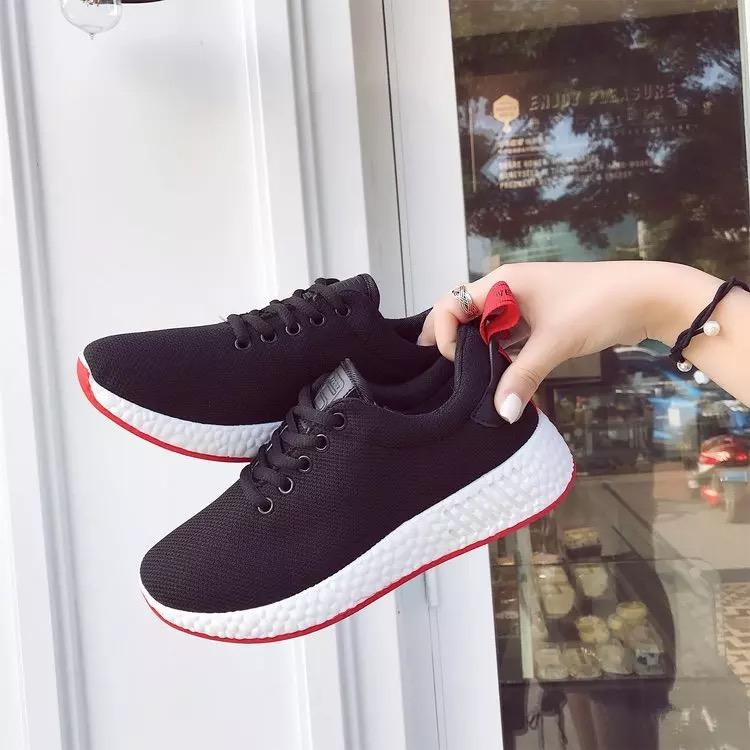 official supplier best quality for fashionable and attractive package QQS 2018 new Korean version of the wild flat casual running shoes
