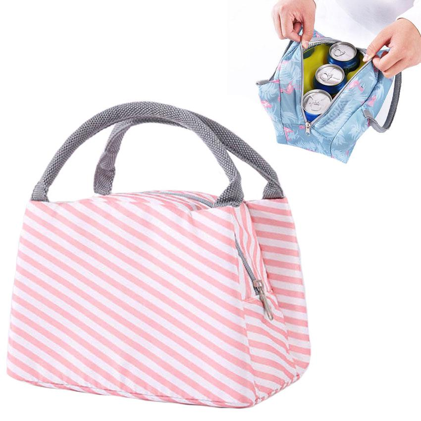 Thermal Functional Canvas Portable Insulated Lunch Bag
